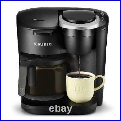 12 Cup Carafe Coffee Maker Double Single Serve K-Cup Pod Brewer Kitchen Black