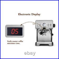 15 Bar Semi-Automatic Cappuccino Espresso Latte Coffee Makers Frother Machine