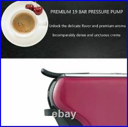 3 in 1 Capsule Single Cup Pink Expresso Coffee Maker Machine