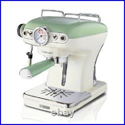 ARIETE 1389 Macchina caffe espresso Vintage coffee maker 1-2 tazze 900W VERDE