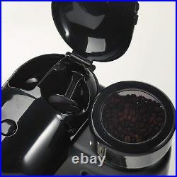 Ariete Moderna Espresso Machine, Barista Style Coffee Maker Black