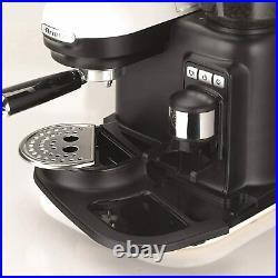 Ariete Moderna White Espresso Machine Coffee Maker Built in Grinder Milk Frother