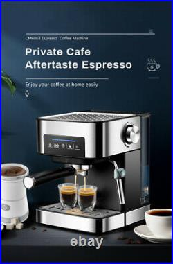 Automatic Coffee Espresso Cappuccino Maker Machine 15 Bar Stainless Steel