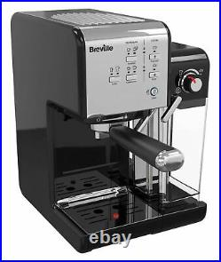 BREVILLE VCF107 One-Touch, Fully Automatic, Black & Chrome, Coffee Maker/Machine