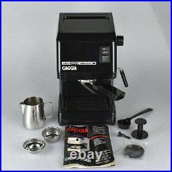 Brevetti Gaggia Espresso Coffee Maker Machine BLACK Made in Italy WORKS GREAT
