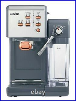 Breville One Touch Coffee Machine Cappuccino Maker In Black and Rose RRP £299