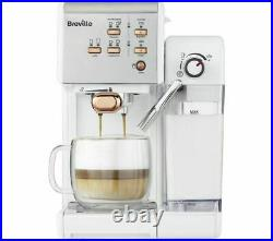 Breville VCF108 One Touch Coffee Machine Maker White & Rose Gold