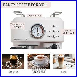Coffee Machine Espresso& Cappuccino& Latte Maker with Milk Frothing Steamer