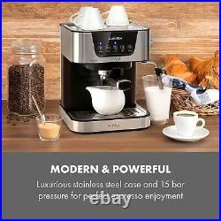 Coffee Machine Maker 10 Thermo 1050W 1.5 l Silver Espresso Americano Cappuccin