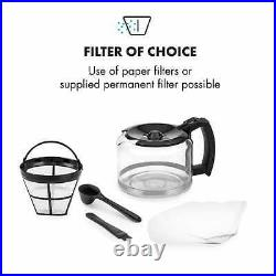 Coffee Machine Maker Home Electric Bean to Cup Timer 1000W Grinder 1.25 L Silver