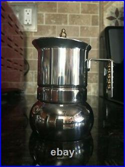 Cuban Coffee Maker Stovetop Espresso Pot Italian Vintage Moka Percolator Camping