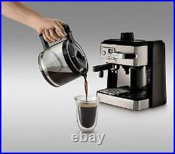 DeLonghi Coffee & Espresso Maker, Cappuccino, Latte Machine + Milk Frother New