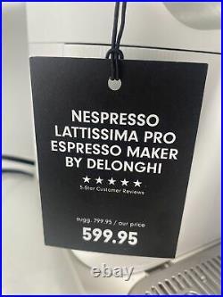 Delonghi Nespresso Lattissima Pro Espresso Maker Coffee Machine White NWT