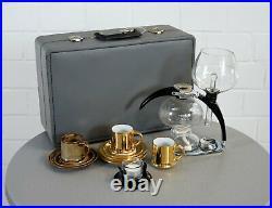 Edle CONA Size B Kaffee Maschine Coffee Maker 15 teilig im Koffer 60er Jahre RAR