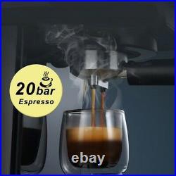 Espresso Coffee Machine inox Semi Automatic Expresso Cappuccino Maker Steam Wand
