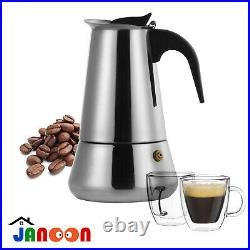 Espresso Coffee Maker 9 Cup Stainless Steel Italian Moka Pot Percolator
