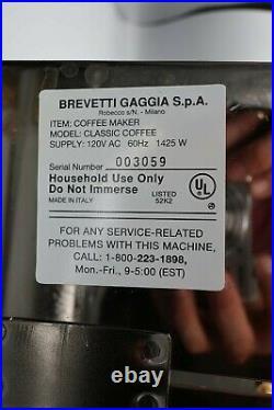 GAGGIA COFFEE Classic Maker Semi Automatic Espresso Machine SIN035 GOLD EDITION