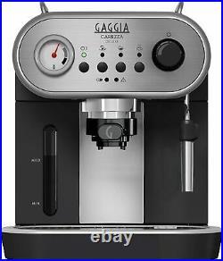 Gaggia Carezza Deluxe Manual Espresso Coffee Machine Maker Black & Silver