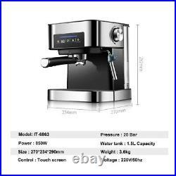 Genuine Coffee Machine 20Bar Automatic Coffee Maker Cappuccino Machine Espresso