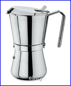 Giannina Giannini 6/3 Cup High Polished Stainless Steel Coffee Maker
