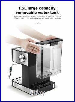 HiBREW espresso coffee machine inox semi automatic expresso maker, cafe powder es