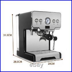Household Espresso Coffee Maker Cappuccino Latte Machine 15-bar Pump 1450W