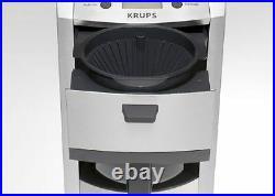KRUPS KM8105 12CUP DIE-CAST PROGRAMABLE COFFEE MAKER STAINLESS STEEL Refurbished