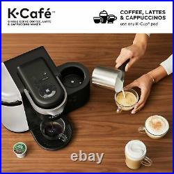Keurig K-Cafe Coffee Maker Single Serve K-Cup Pod Coffee Latte and Cappuccino