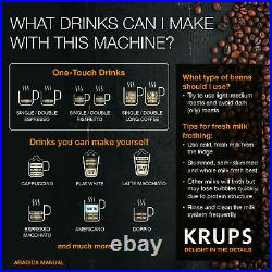 Krups EA8100 NEW Bean to Cup Coffee Machine Automatic Espresso Maker Carbon A
