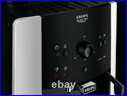Krups EA811840 Arabica Manual Espresso Bean to Cup Coffee Maker Black & Silver