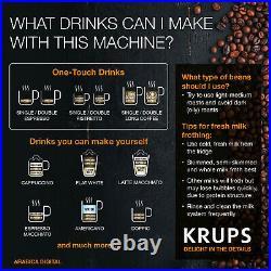 Krups EA817040 Coffee Machine Bean to Cup Digital Espresso Maker 1.7L Black
