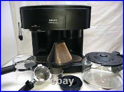 Krups II Caffe Duomo 8 Cup Coffee & Espresso Maker Machine Dual Glass Carafe Pot