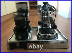 La Pavoni Europiccola-EDH 8 Cups Coffee Maker Silver with a Coffee Grinder