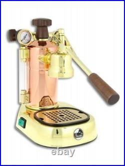 La Pavoni Professional PRG Lever Espresso Coffee Machine / Cappuccino Maker Gold