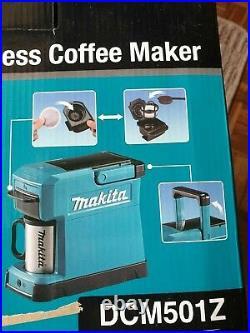 Makita DCM501Z 10.8-12V CXT/14.4-18V LXT Li-Ion Cordless Coffee Maker Body only