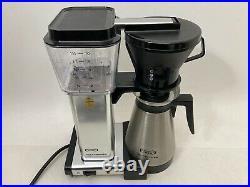 Moccamaster KBT Manual-Adjust Drip-Stop 40oz Coffee Maker Polished Silver