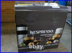 Nespresso VertuoPlus Coffee and Espresso Maker Bundle with Aeroccino Milk(GREY)