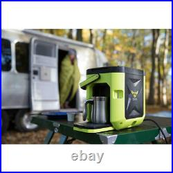 Oxx COFFEEBOXX Hi Viz Green Single Serve Coffee Maker for Worksite CBK250G K-Cup