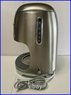 Smeg 1950's Retro Style 10 Cup Programmable Coffee Maker Machine Stainless Steel