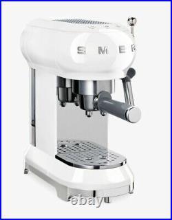 Smeg ECF01WHUK 15 Bar Coffee Machine Maker 1L Pod Ground Coffee White C Grade
