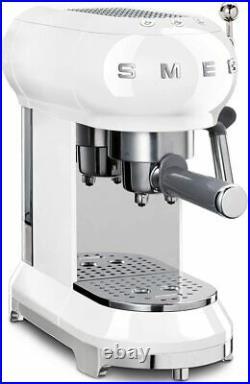 Smeg ECF01WHUK NEW Filter Coffee Machine Pump Espresso Maker Retro 1350W White