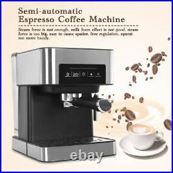 UK Plug Household Semi-automatic Espresso Coffee Machine 20Bar Milk Foam Maker