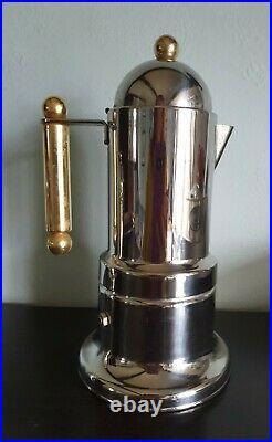 Vintage INOX 18/10 Italy Stovetop Espresso Coffee Maker Complete Set Collectable