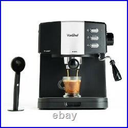VonShef 15 Bar Coffee Maker Machine Espresso Latte Cappuccino Barista Style
