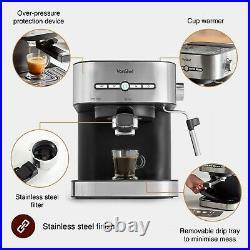 VonShef Professional Espresso Coffee Maker Machine 15 Bar Digital Barista Latte